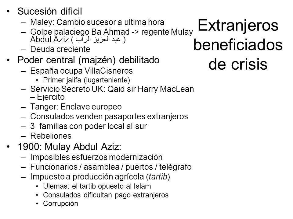 Extranjeros beneficiados de crisis