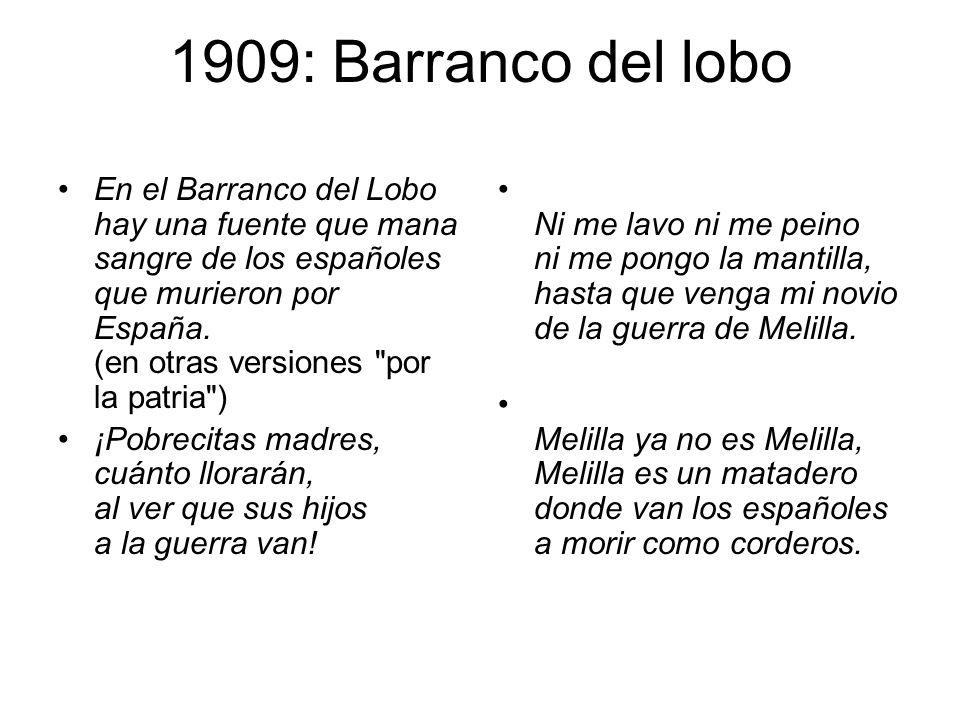 1909: Barranco del lobo