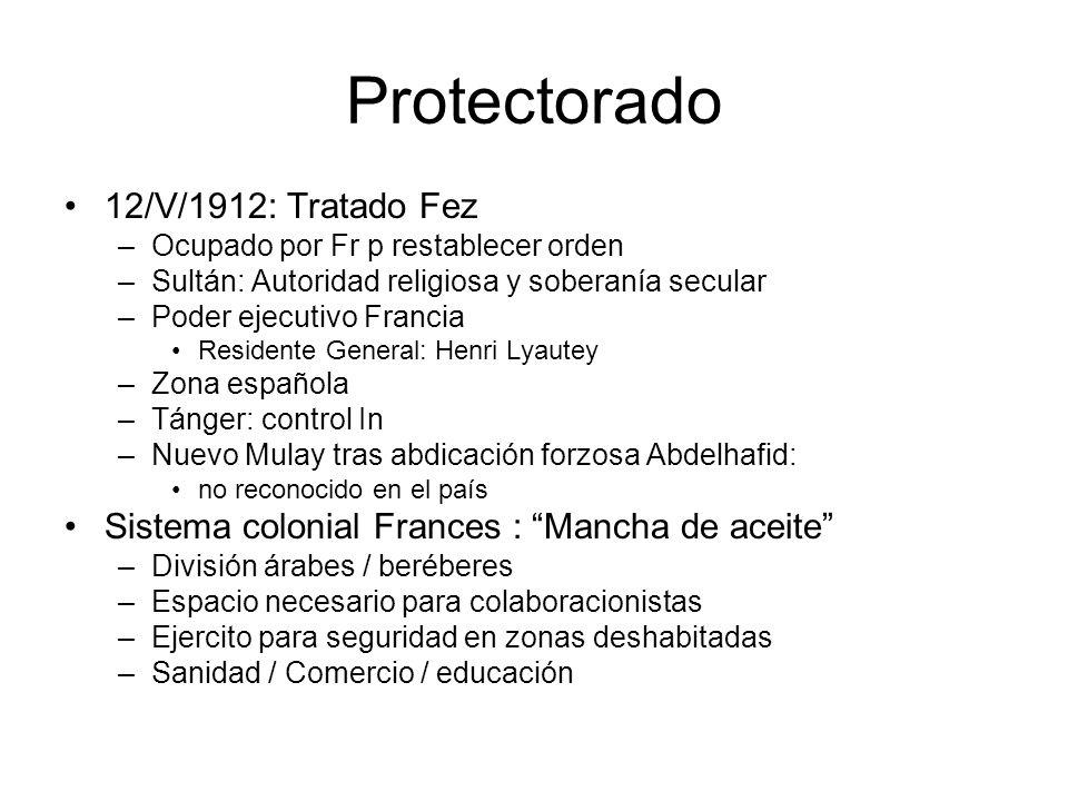 Protectorado 12/V/1912: Tratado Fez