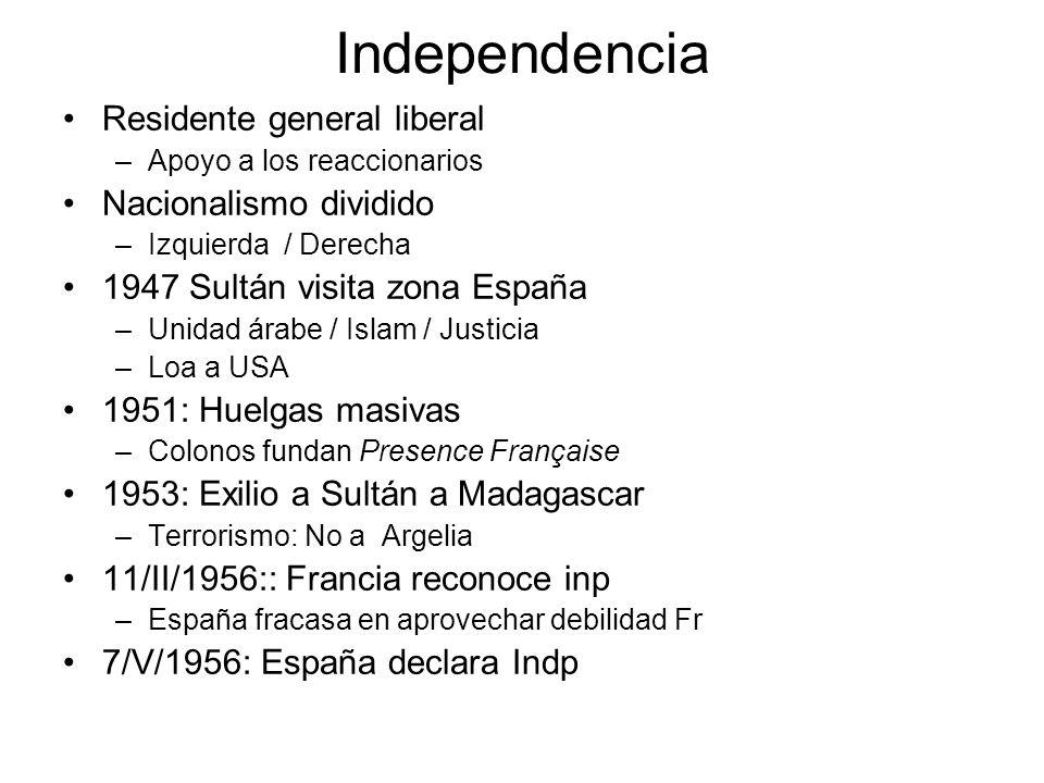 Independencia Residente general liberal Nacionalismo dividido