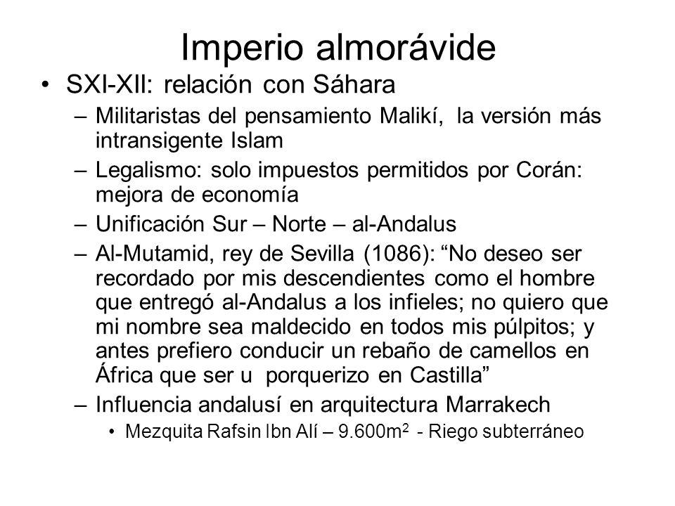 Imperio almorávide SXI-XII: relación con Sáhara