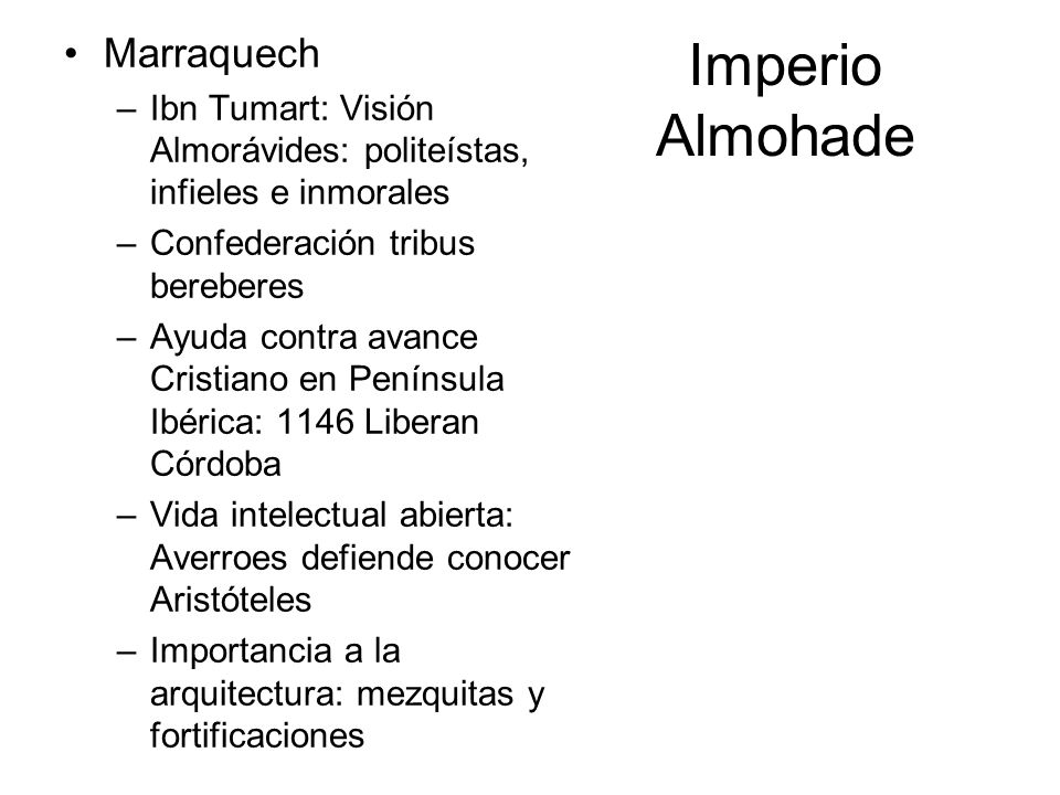 Imperio Almohade Marraquech