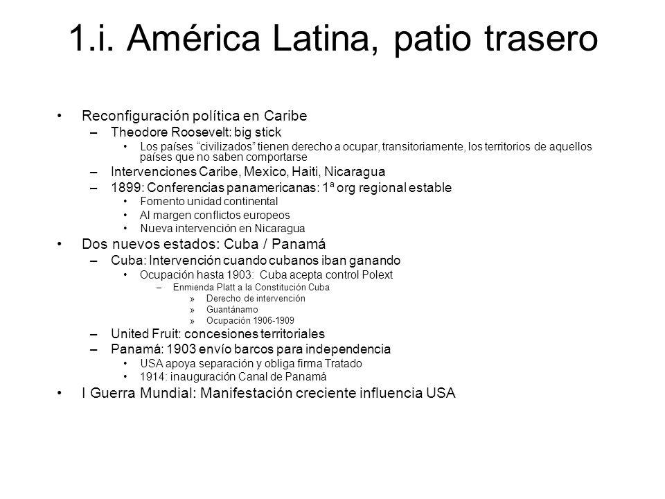 1.i. América Latina, patio trasero