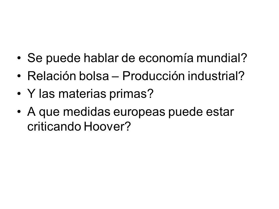 Se puede hablar de economía mundial