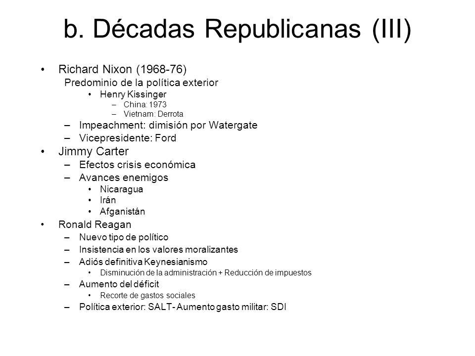 b. Décadas Republicanas (III)