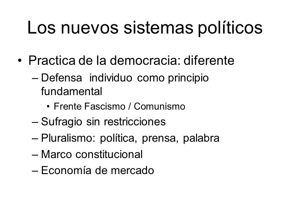 Los nuevos sistemas políticos