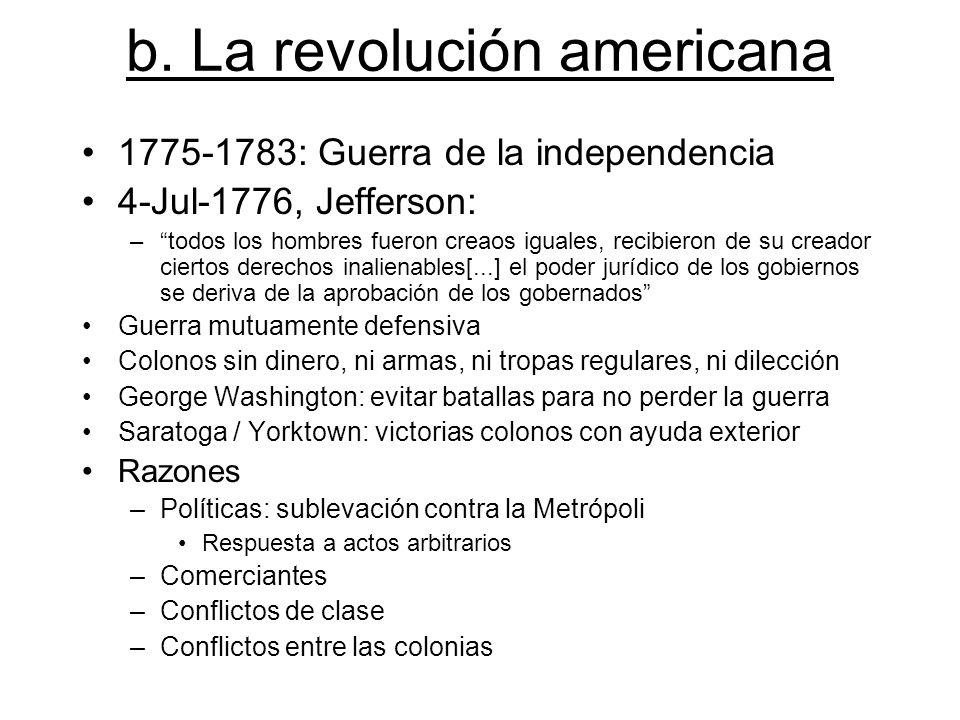 b. La revolución americana