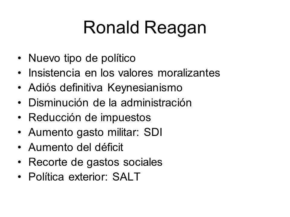 Ronald Reagan Nuevo tipo de político