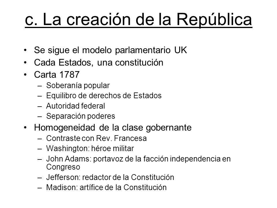 c. La creación de la República