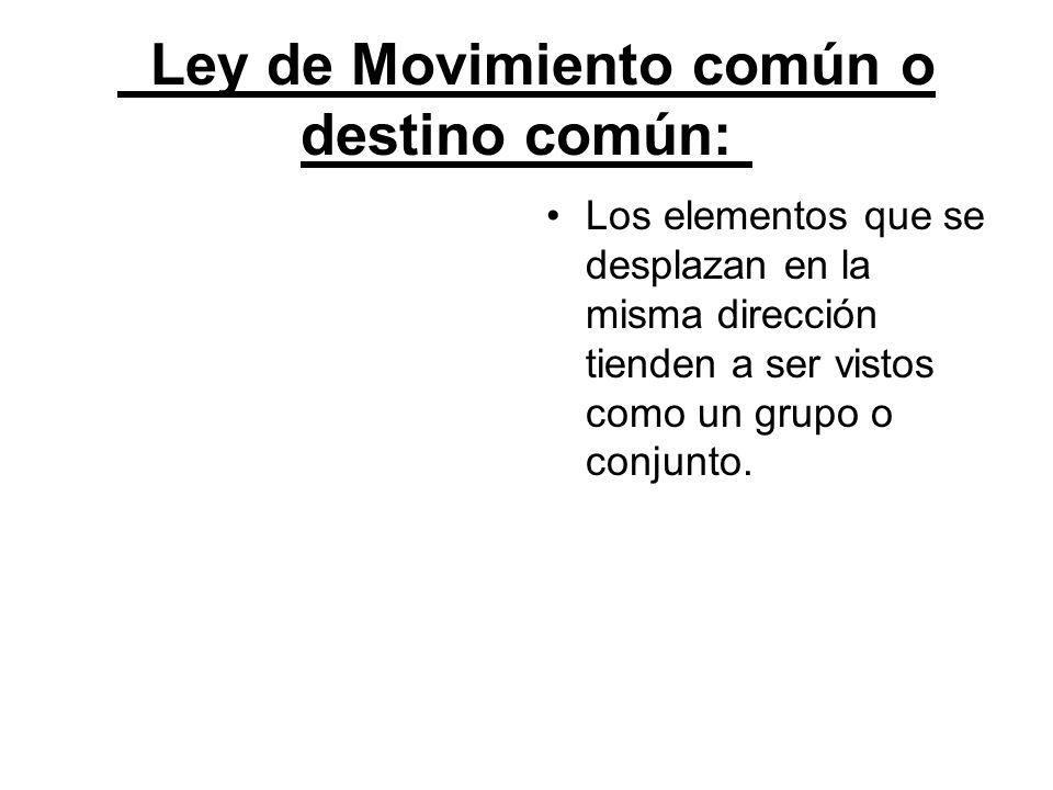 Ley de Movimiento común o destino común: