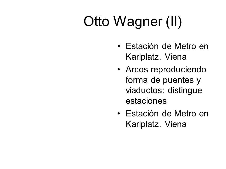 Otto Wagner (II) Estación de Metro en Karlplatz. Viena