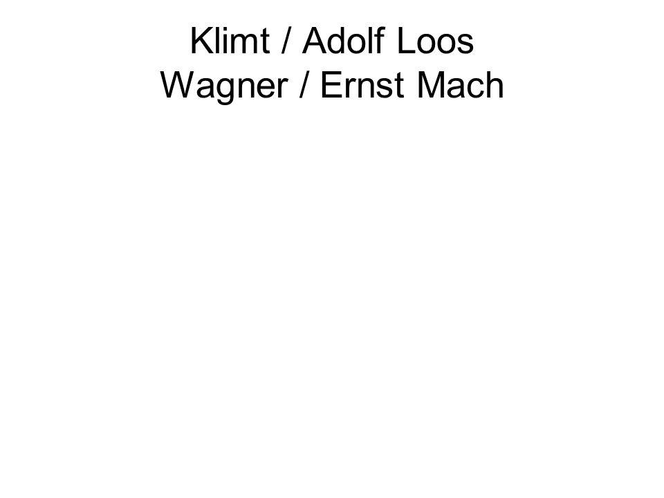 Klimt / Adolf Loos Wagner / Ernst Mach