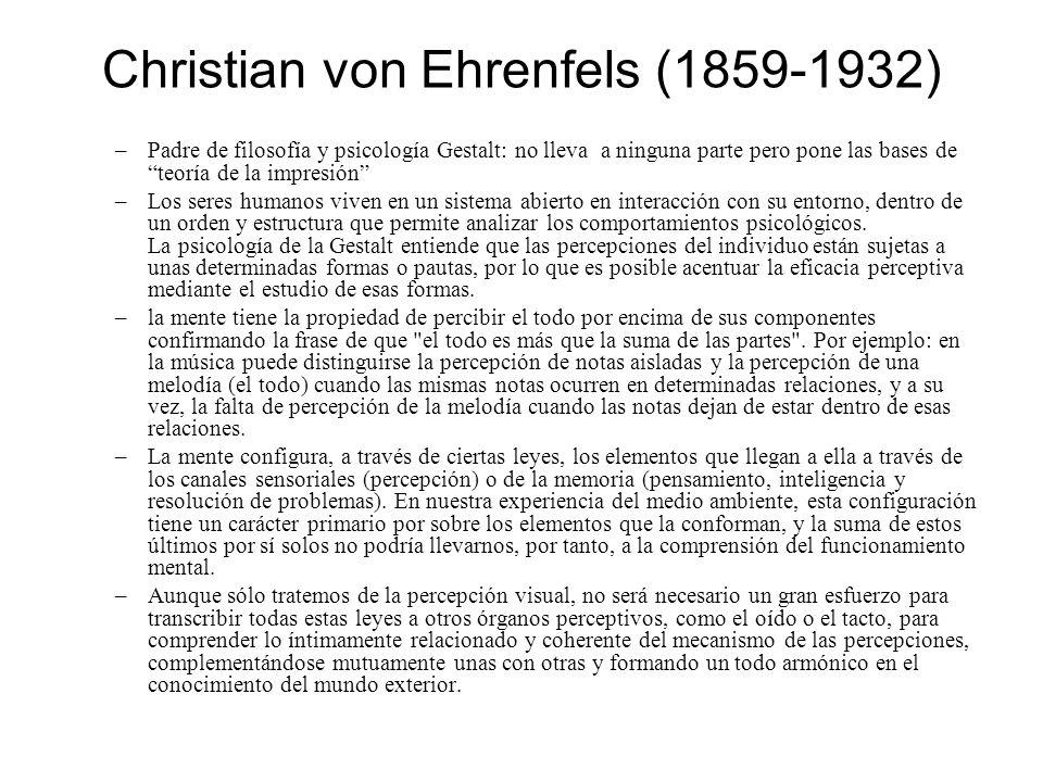 Christian von Ehrenfels (1859-1932)