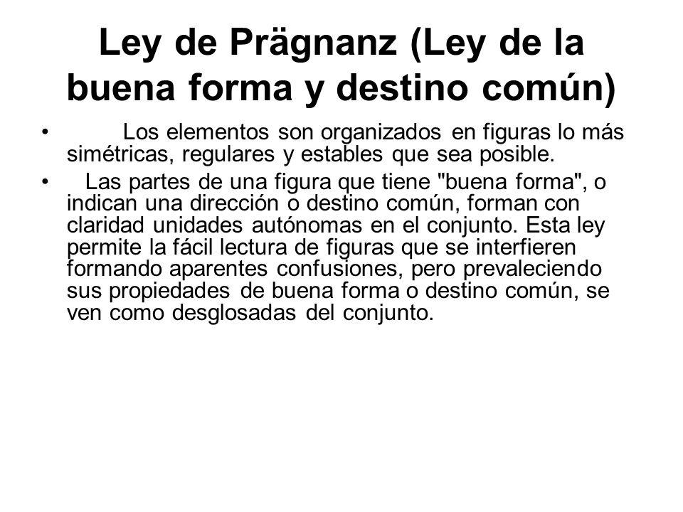 Ley de Prägnanz (Ley de la buena forma y destino común)