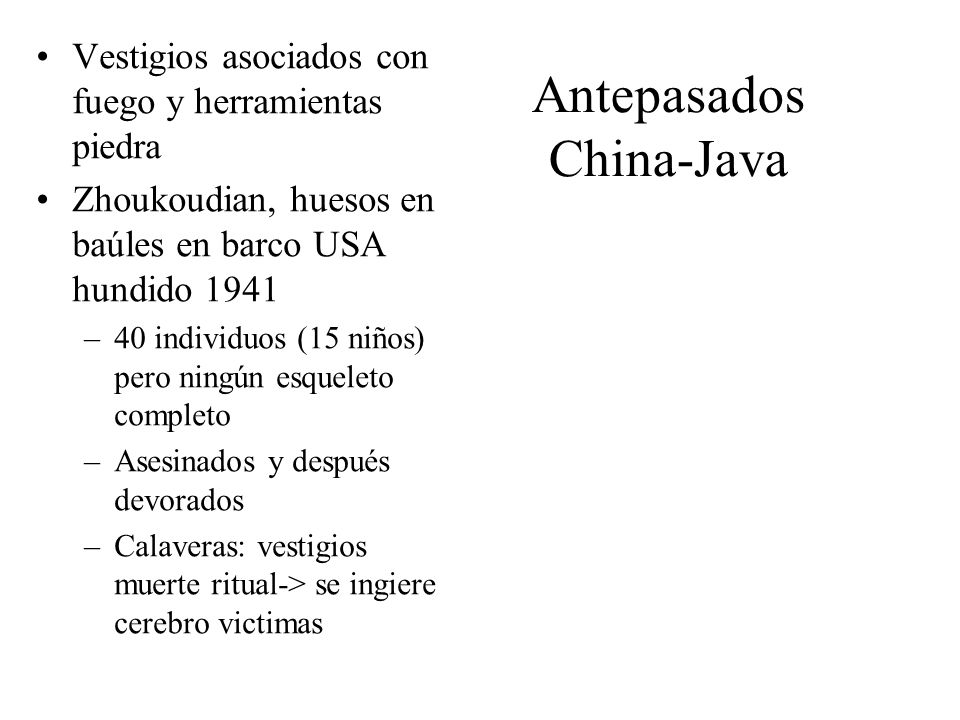 Antepasados China-Java