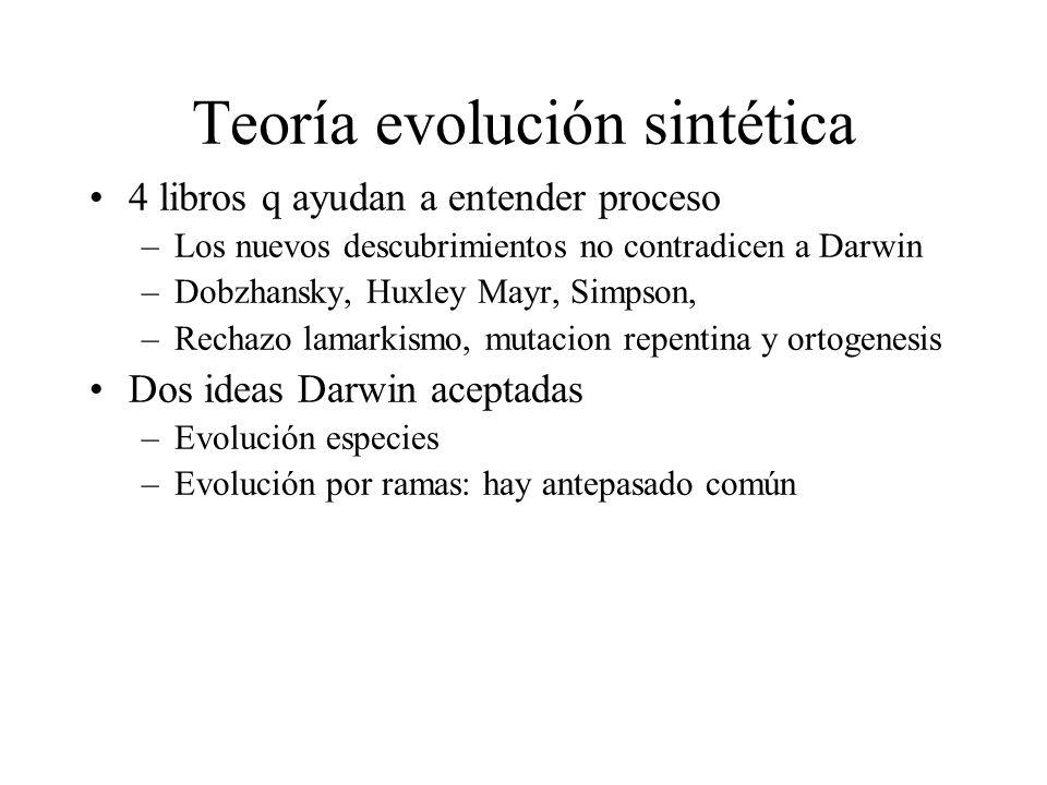 Teoría evolución sintética
