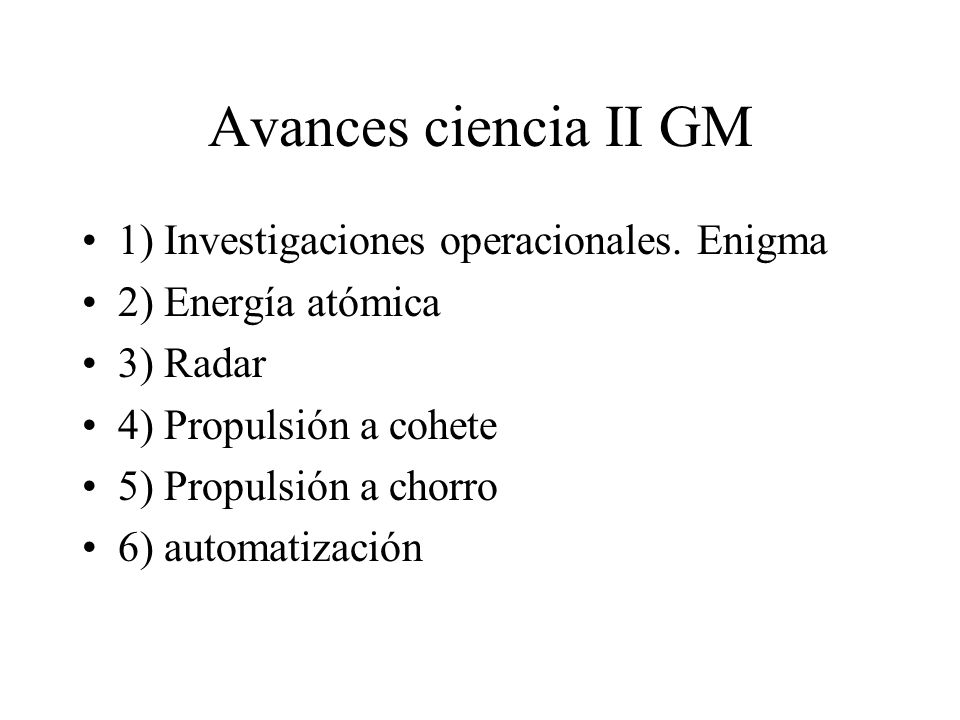 Avances ciencia II GM 1) Investigaciones operacionales. Enigma