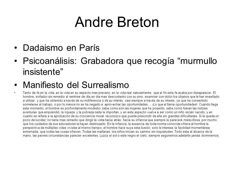 Andre Breton Dadaismo en París