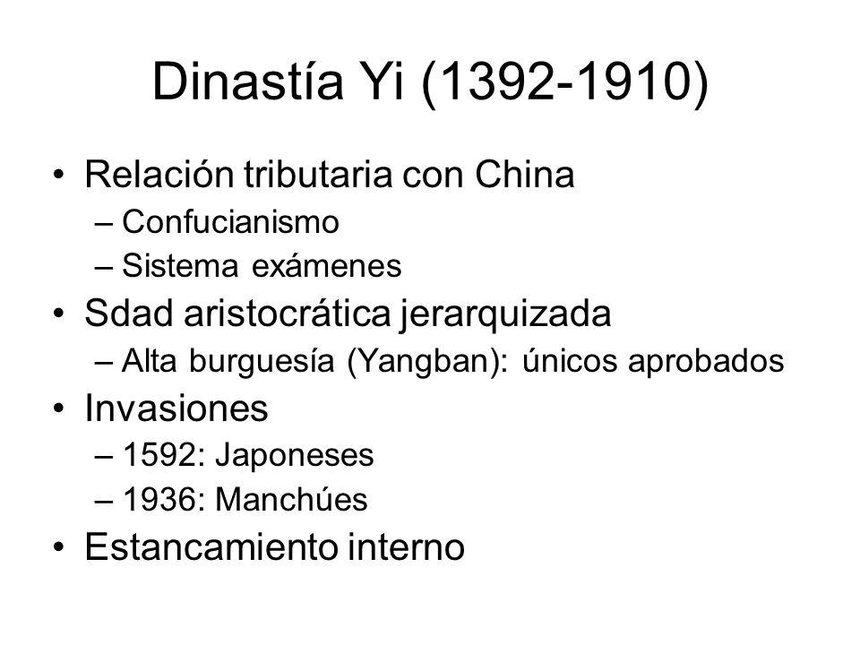 Dinastía Yi (1392-1910) Relación tributaria con China