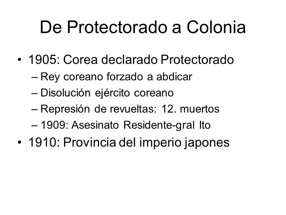 De Protectorado a Colonia