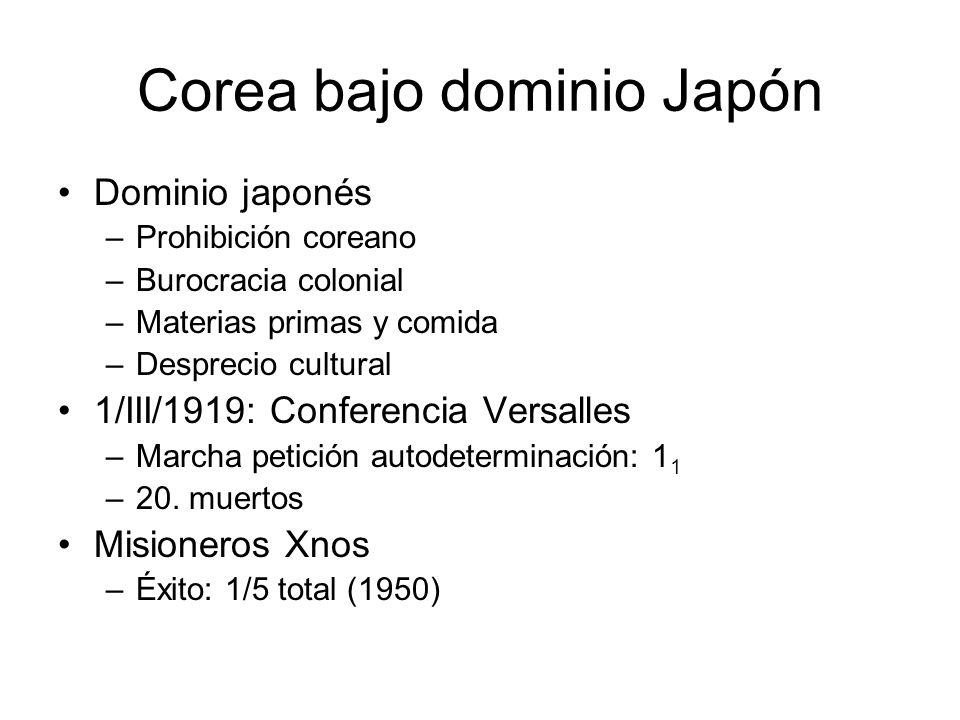 Corea bajo dominio Japón