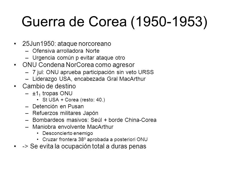 Guerra de Corea (1950-1953) 25Jun1950: ataque norcoreano