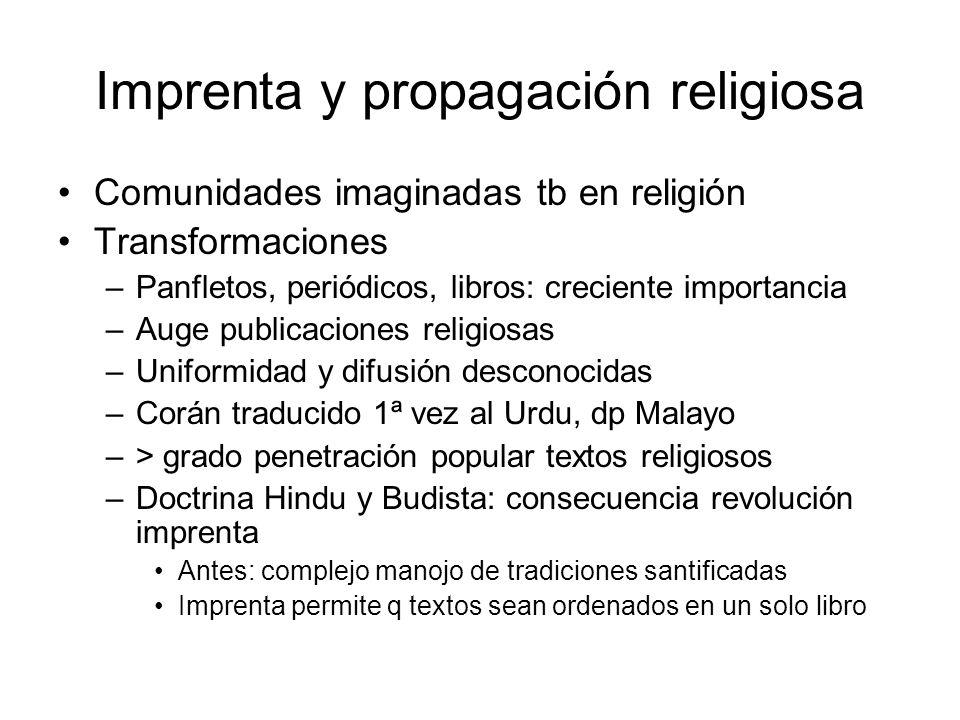 Imprenta y propagación religiosa