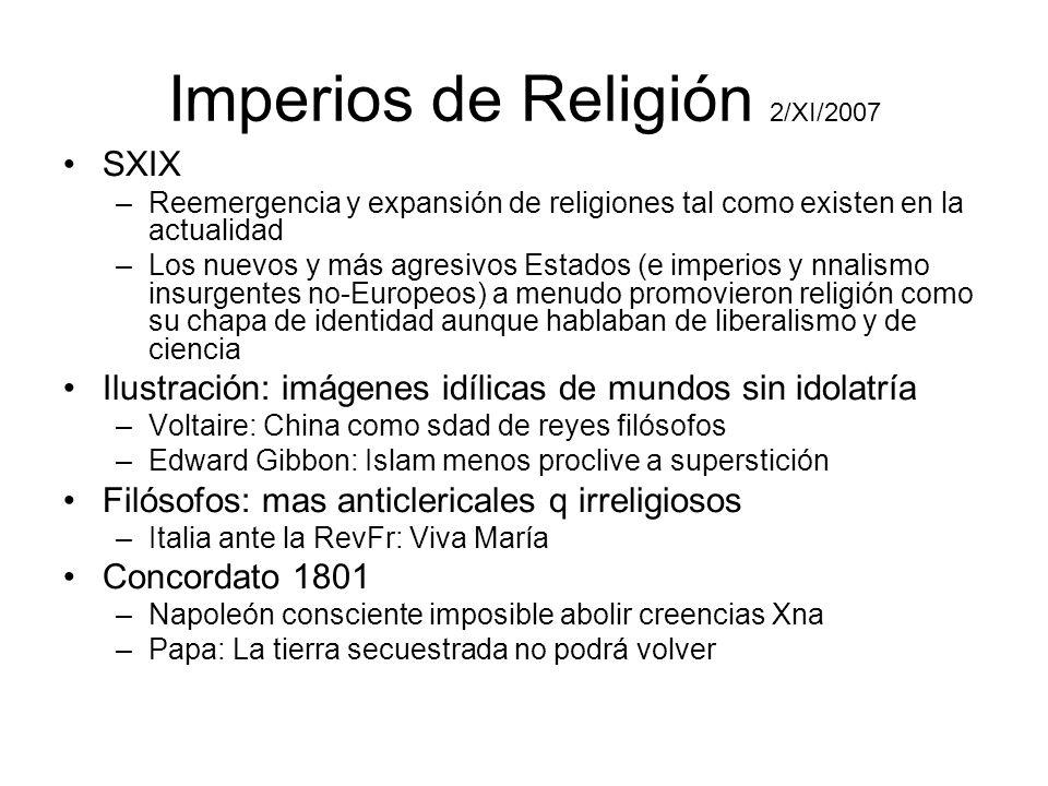 Imperios de Religión 2/XI/2007