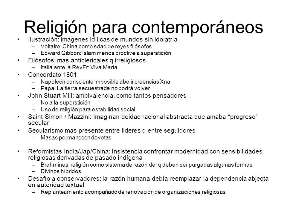 Religión para contemporáneos