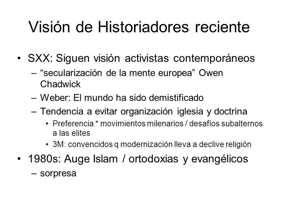 Visión de Historiadores reciente