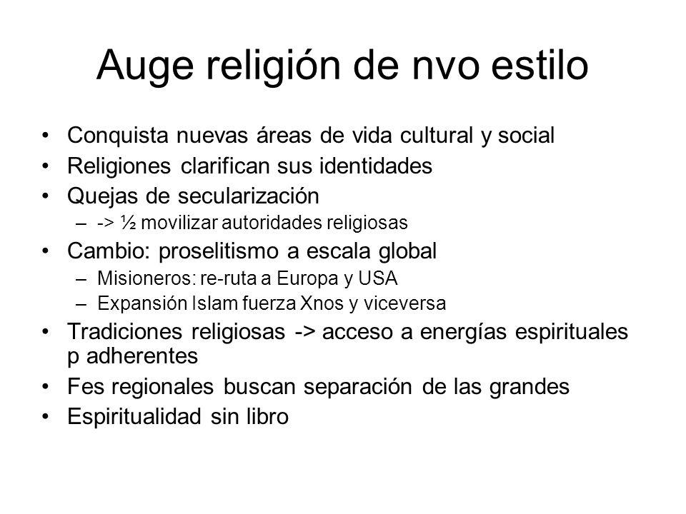 Auge religión de nvo estilo