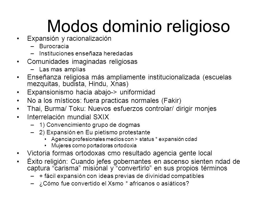 Modos dominio religioso