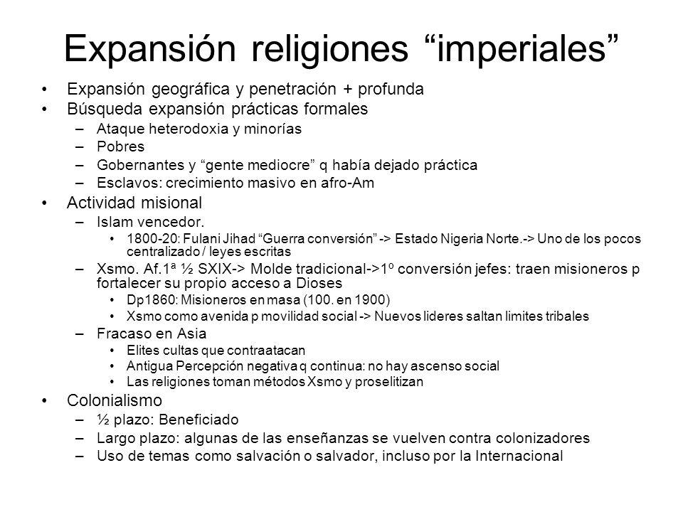 Expansión religiones imperiales
