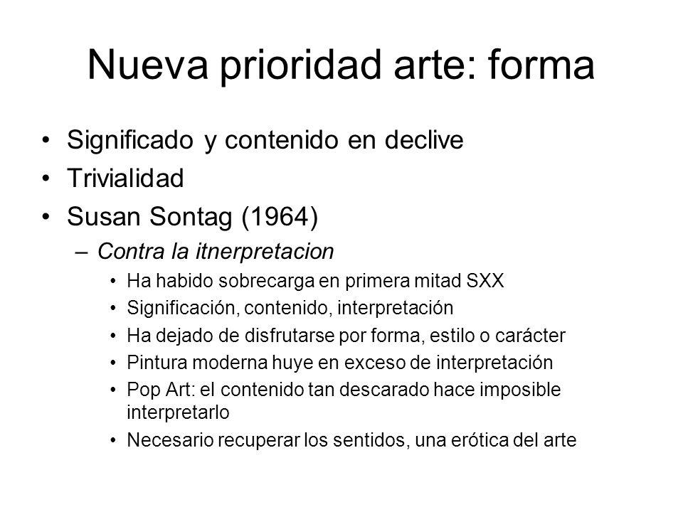 Nueva prioridad arte: forma