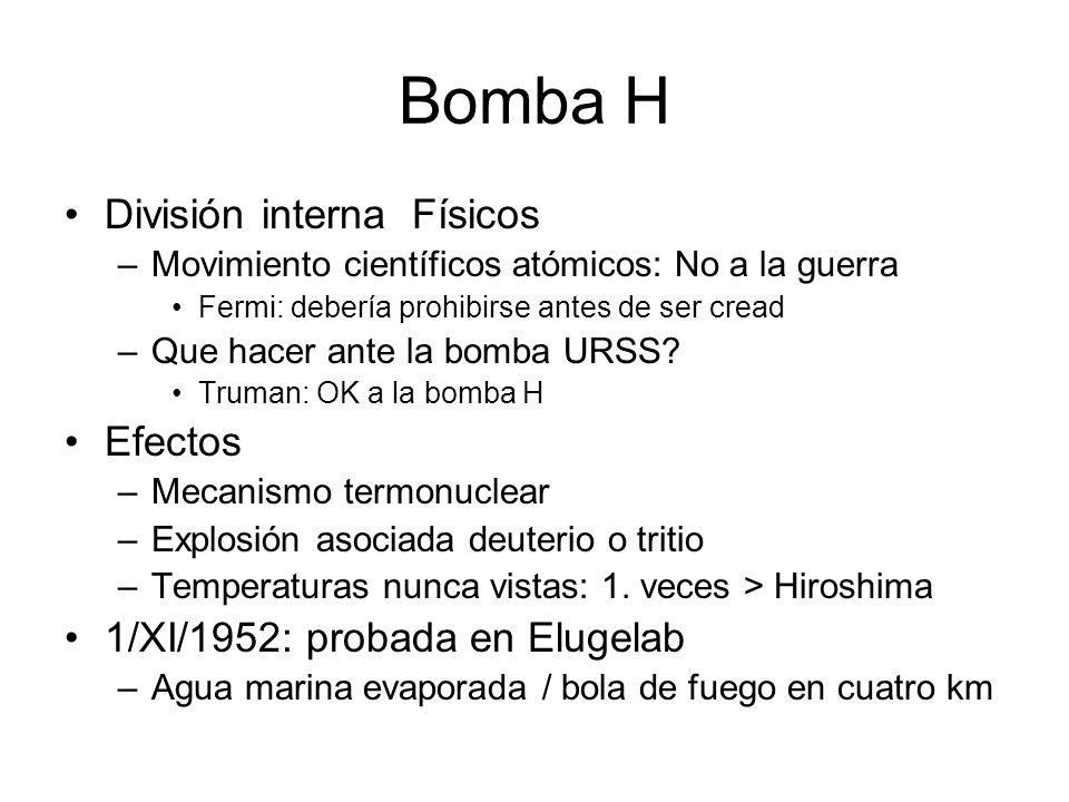 Bomba H División interna Físicos Efectos