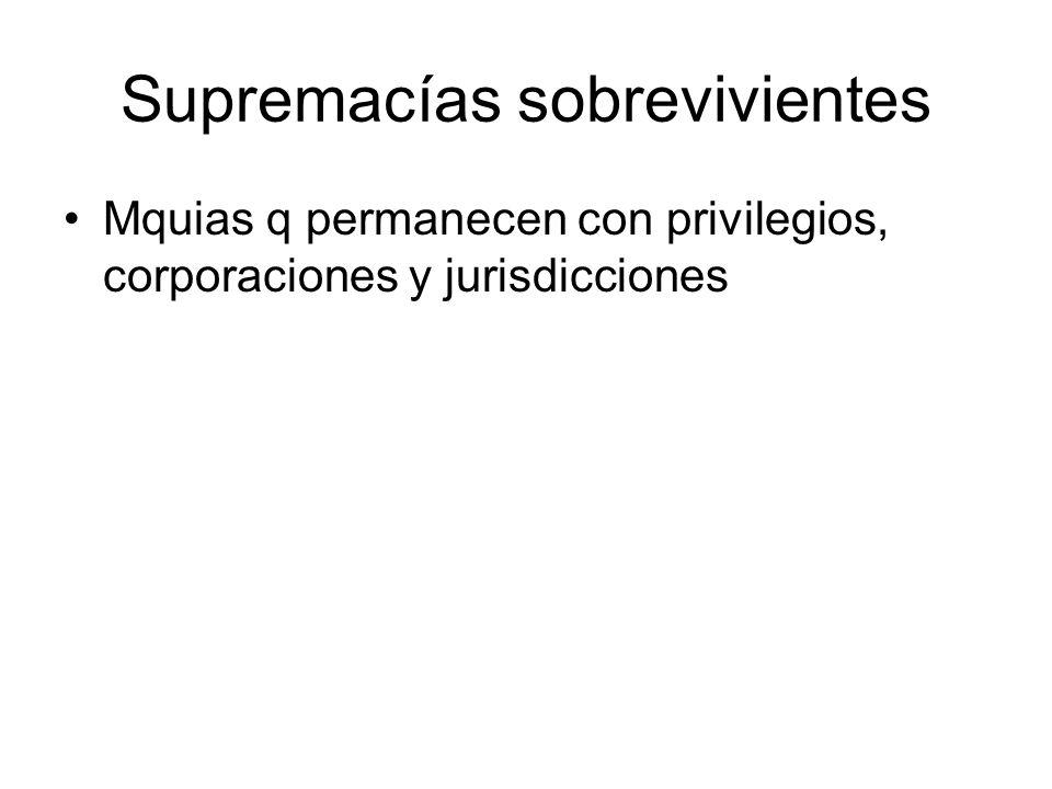 Supremacías sobrevivientes