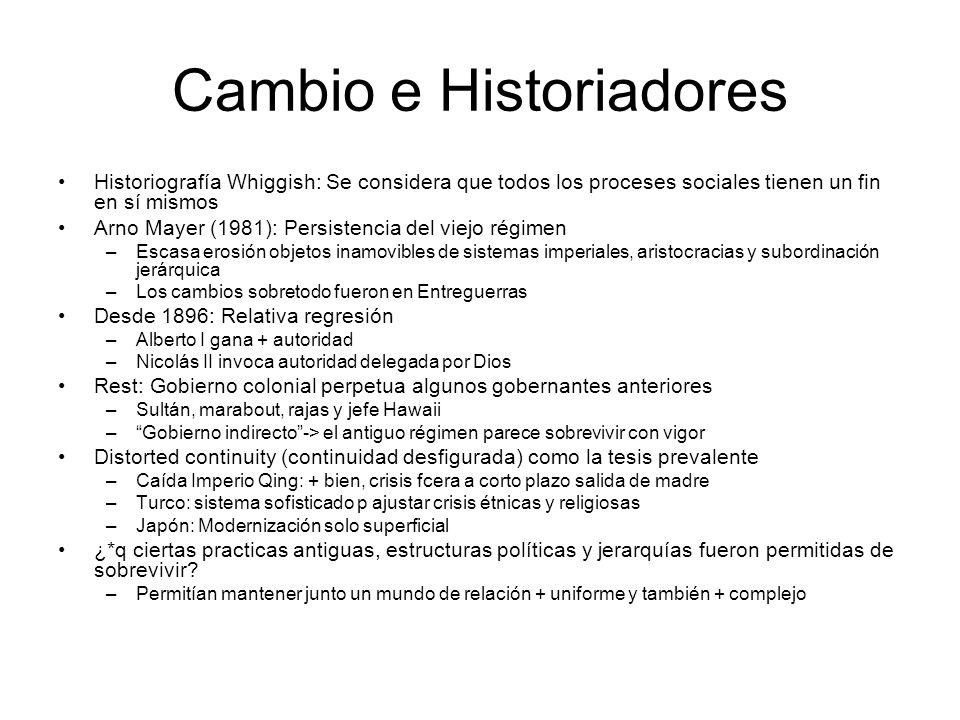 Cambio e Historiadores