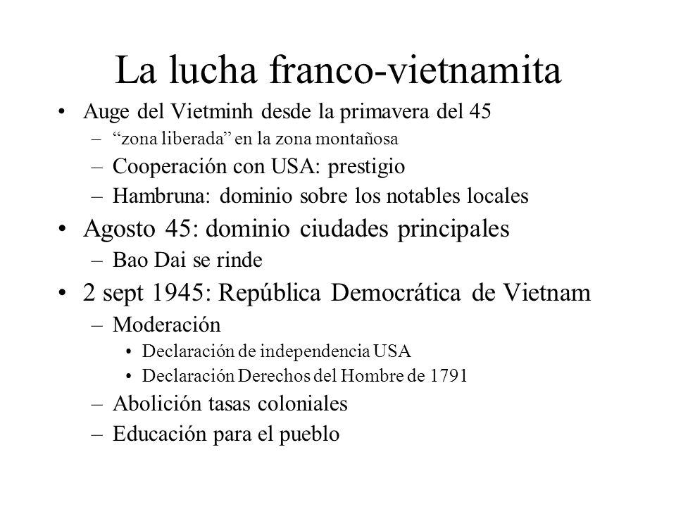 La lucha franco-vietnamita
