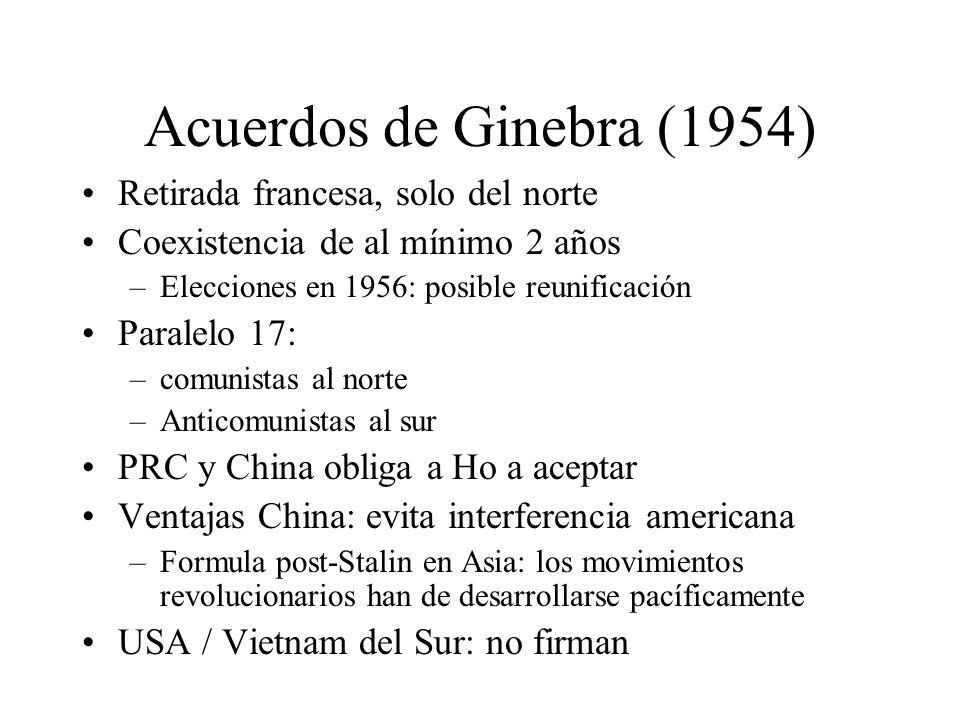 Acuerdos de Ginebra (1954) Retirada francesa, solo del norte
