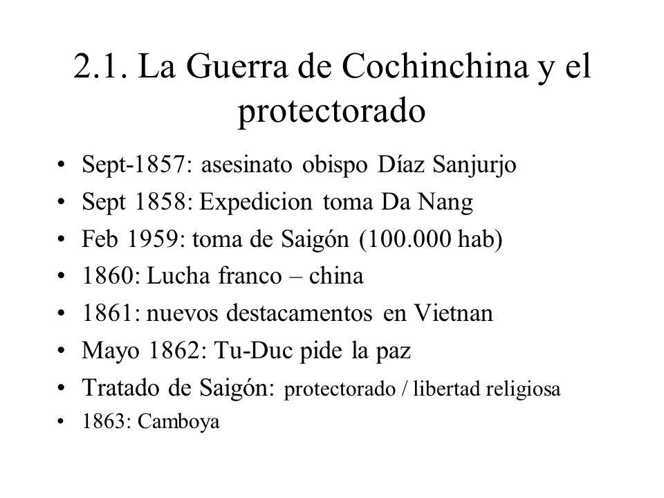 2.1. La Guerra de Cochinchina y el protectorado