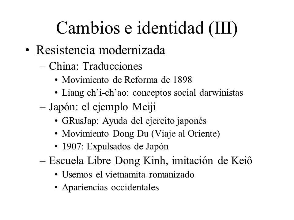 Cambios e identidad (III)