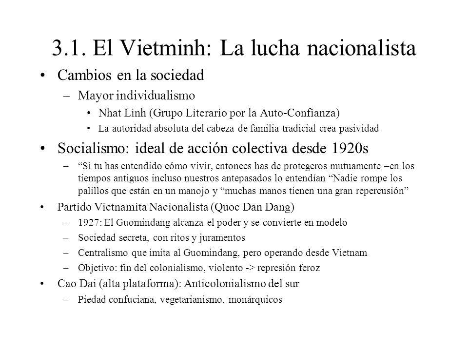 3.1. El Vietminh: La lucha nacionalista