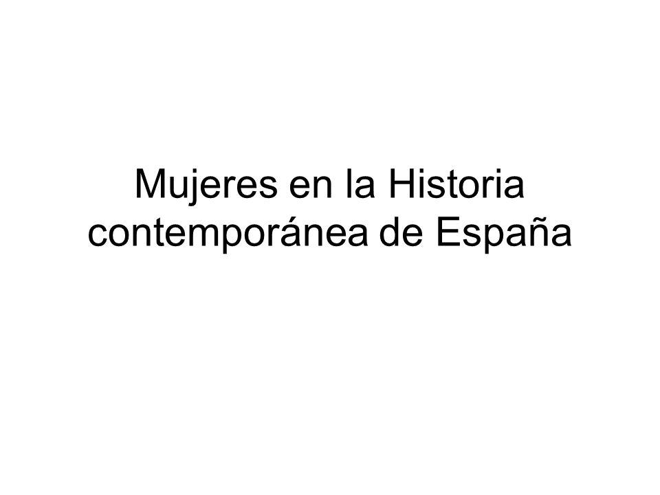 Mujeres en la Historia contemporánea de España
