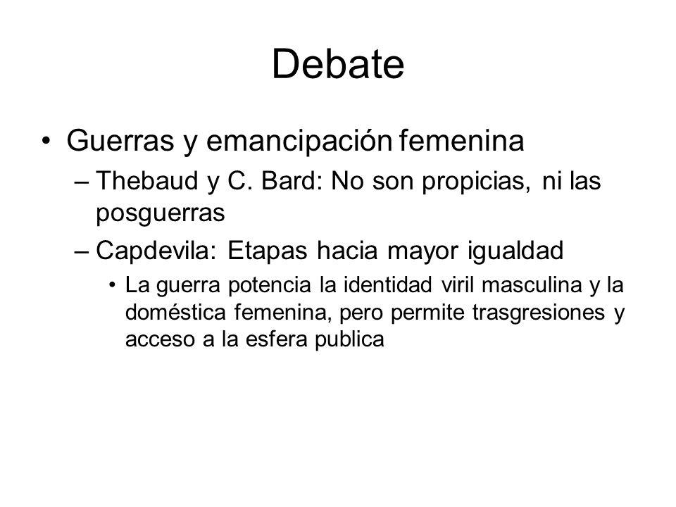 Debate Guerras y emancipación femenina