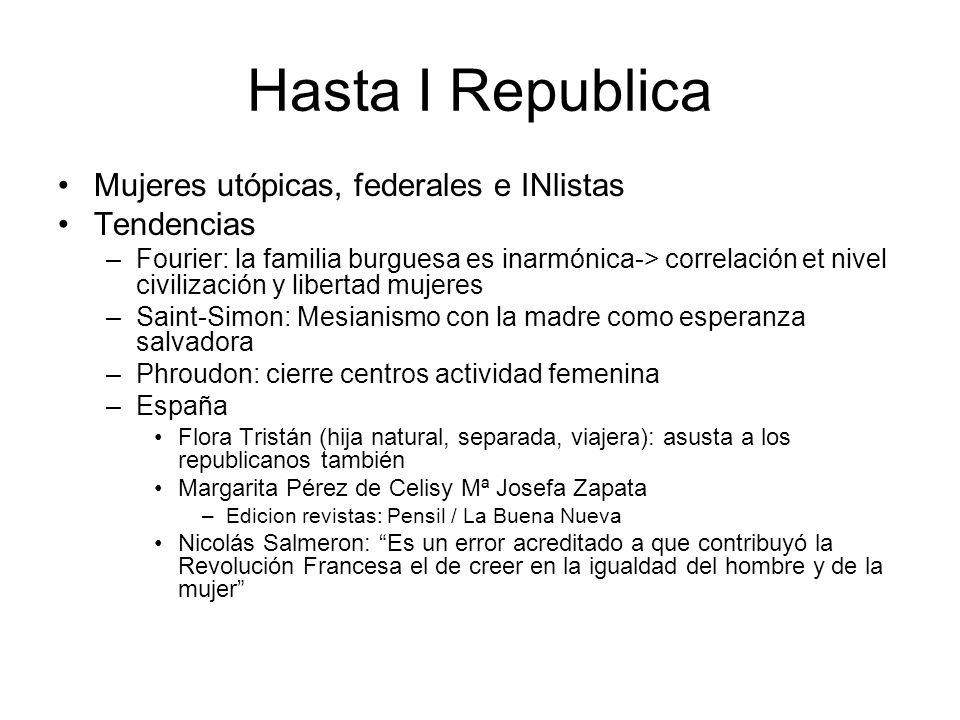 Hasta I Republica Mujeres utópicas, federales e INlistas Tendencias