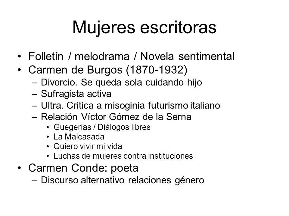 Mujeres escritoras Folletín / melodrama / Novela sentimental