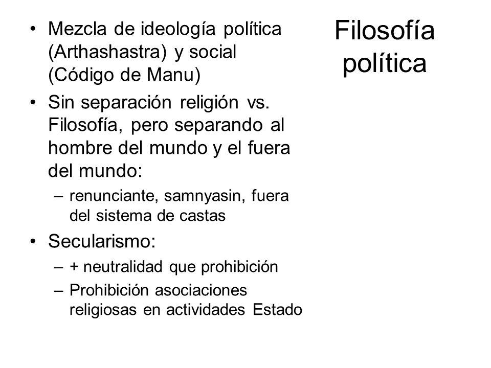 Mezcla de ideología política (Arthashastra) y social (Código de Manu)