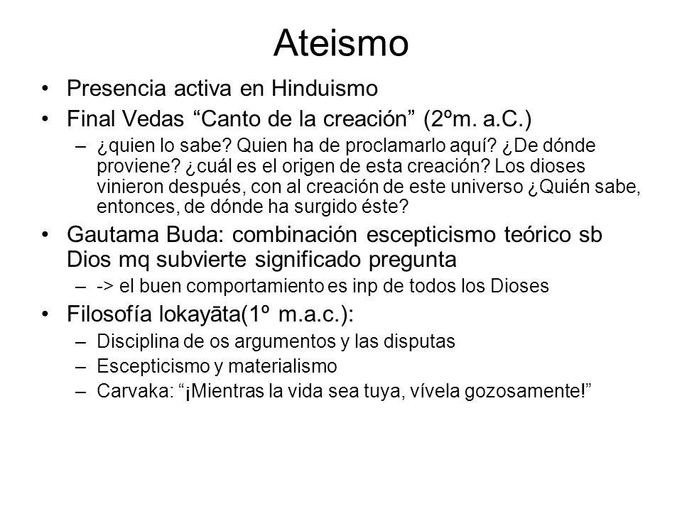 Ateismo Presencia activa en Hinduismo