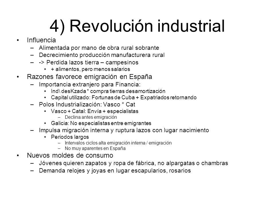 4) Revolución industrial