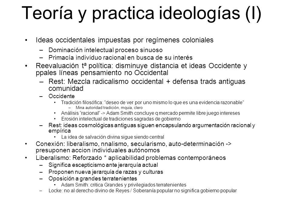 Teoría y practica ideologías (I)